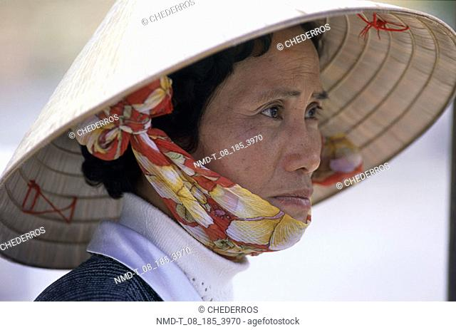 Close-up of a mid adult woman, Vietnam