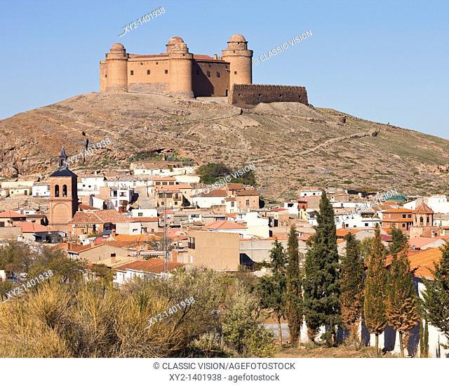 La Calahorra, Granada Province, Spain  16th century castle above village