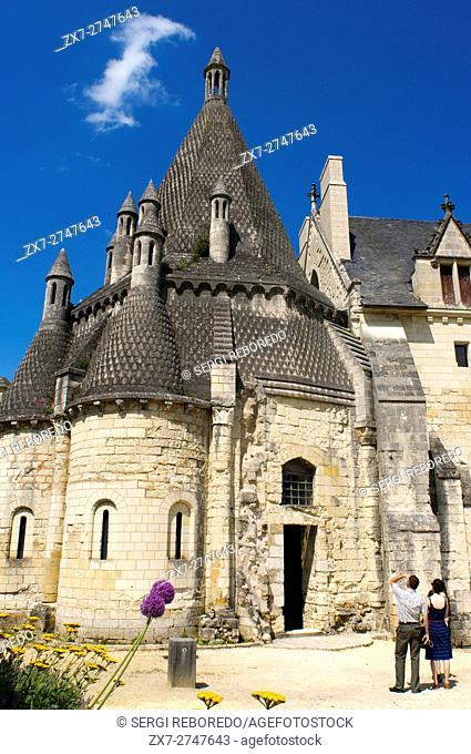 Fontevraud Abbey church 12th, Fontevraud l'Abbaye, Maine et Loire, Loire Valley, France