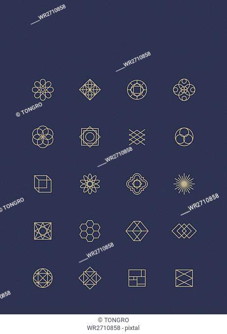 Icons of various geometric emblems