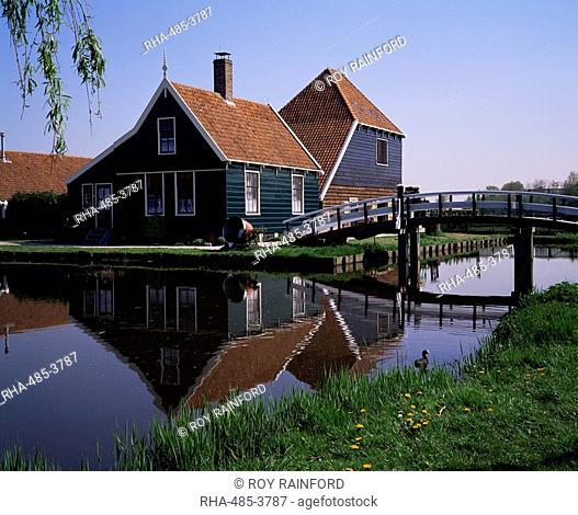 Cheese making house, Zaanse Schans, near Amsterdam, Holland, Europe