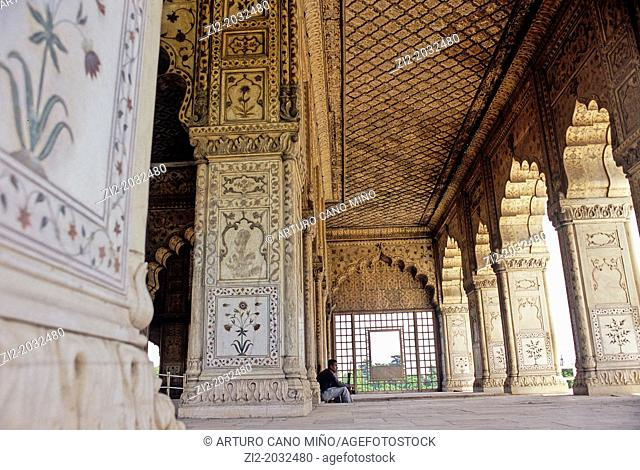 Imperial pavilions, Red Fort, Delhi, India