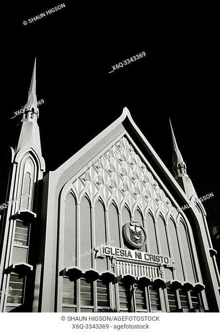 Church of Christ Inglesia Ni Cristo in Poblacion Makati in Manila in Luzon Metro Manila in the Philippines in Southeast Asia Far East