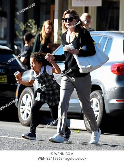 Ellen Pompeo and her daughter Stella grab some ice cream while out and about in Los Angeles Featuring: Ellen Pompeo. Stella Luna Pompeo Ivery Where: Los Angeles