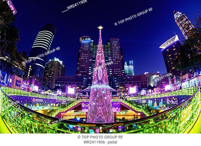 Joy Christmas City New Taipei City--New Taipei City civic plaza--Christmas tree