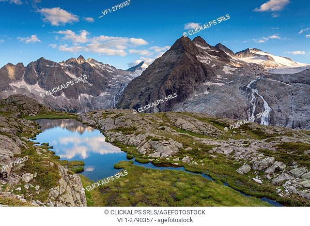 Genova valley, Adamelllo-Brenta natural park, Trentino Alto Adige, Italy. One of the many small lakes that surround the Mandrone refuge