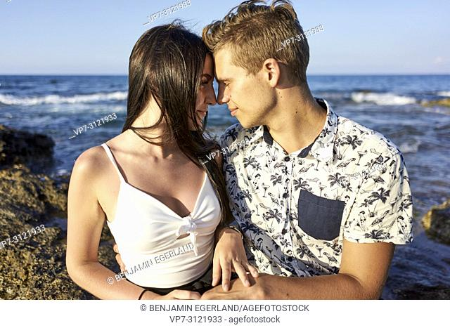 couple, love, holiday, seaside. Chersonissos, Crete, Greece