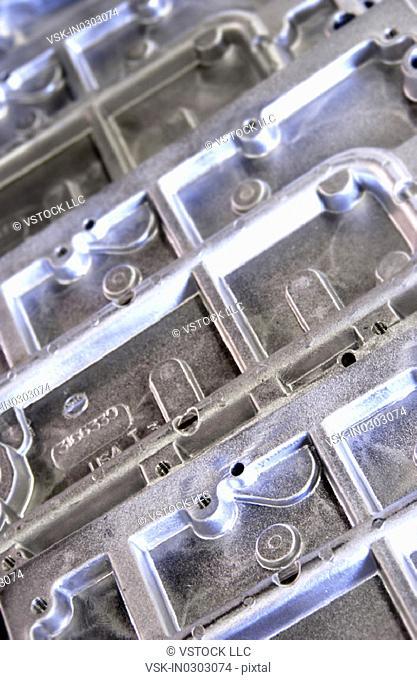Industrial metal parts pattern