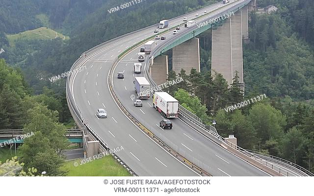 Austria, near Insbruck city, Europa Bridge, Brenner Pass , Alps