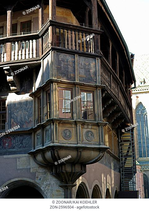 Haus Pfister mit seiner Fassade in Colmar im Elsass in Frankreich