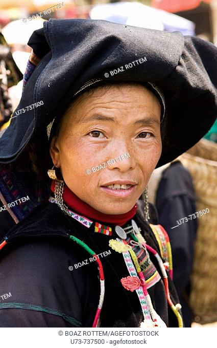 Portrait of a Tribal woman taken in south Yunnan province, China