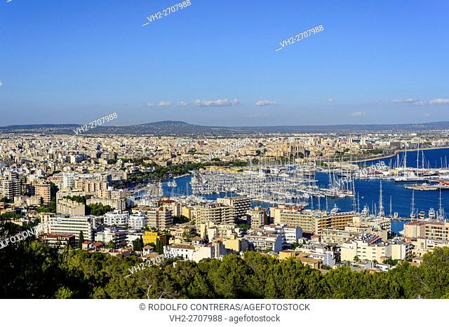 Palma view from the castle, Majorca