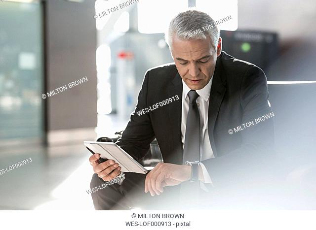 Businessman waiting at the airport