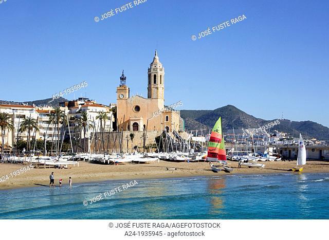 Spain , Catalunya Region ,Bracelona Province , Sitges City, San Bertomeu Church