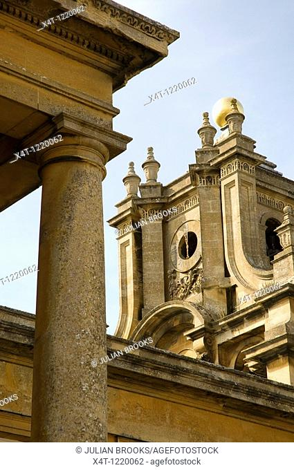 detail of the architecture at Blenheim Palace in Woodstock