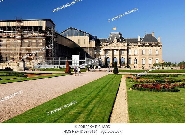 France, Meurthe et Moselle, Luneville, the Castle, the flowered gardens