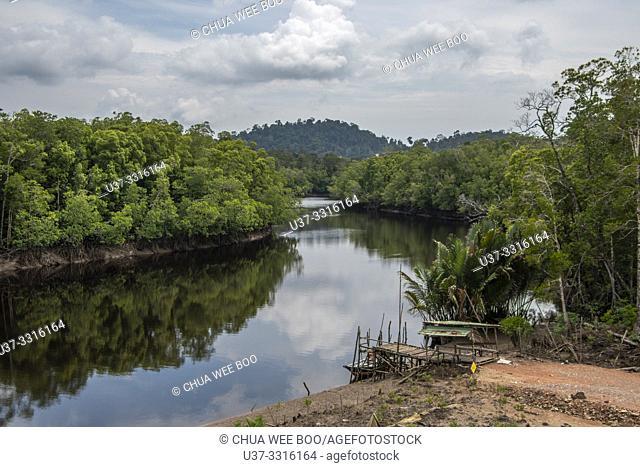 A small river at Telok Melano, Sematan, Sarawak, Malaysia