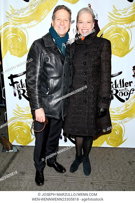 Opening night of Fiddler On the Roof at the Broadway Theatre - Arrivals. Featuring: Martin Moran, Marin Mazzie Where: New York City, New York