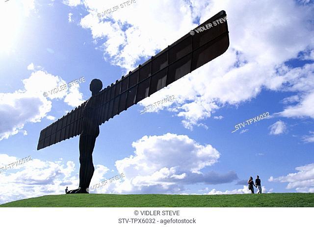 Angel of the north, England, United Kingdom, Great Britain, Gateshead, Holiday, Landmark, Statue, Tourism, Travel, Tyne and wear