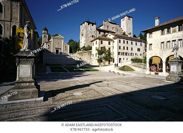 Feltre  Italy  Piazza Maggiore & the remains of the medieval castle