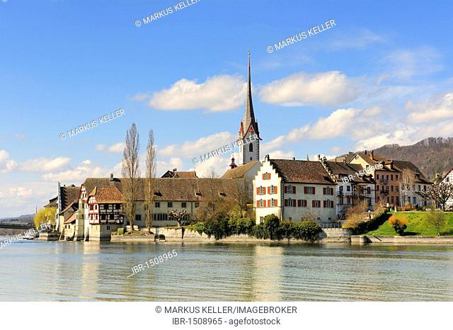 The old town of Stein am Rhein, Canton Schaffhausen, Switzerland, Europe