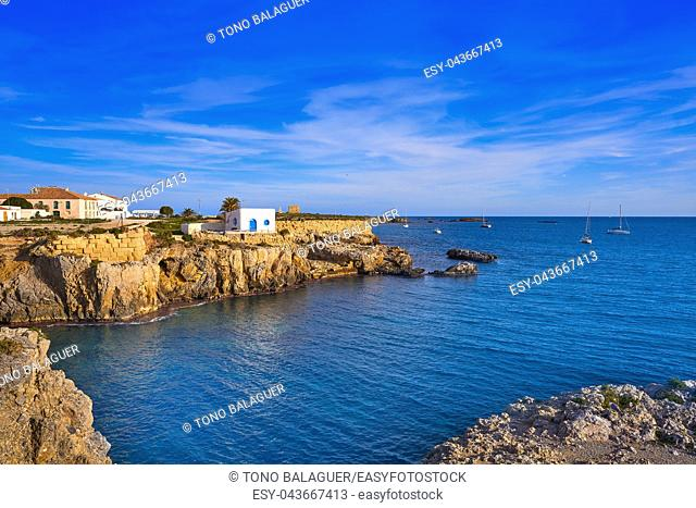Mediterranean sea in Nova Tabarca of Alicante Spain