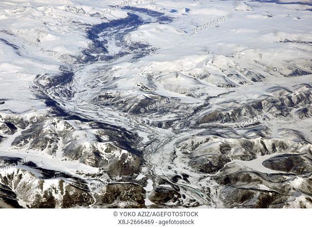 Mongolia, aerial view