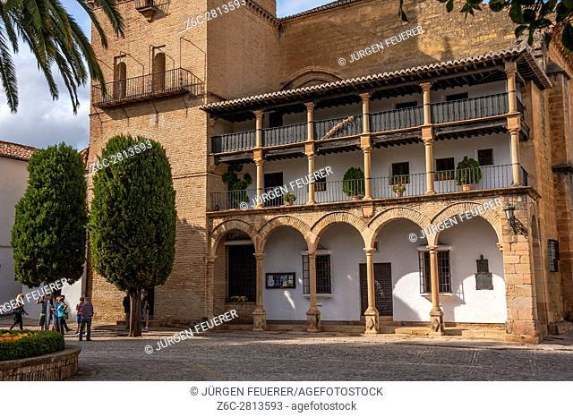Church of Santa Maria la Mayor in Ronda, province of Malaga, Andalusia, Spain