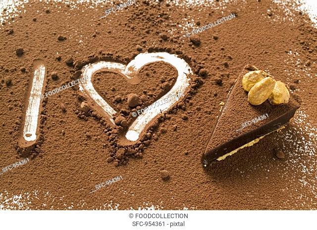 'I heart chocolate tart' symbolic picture