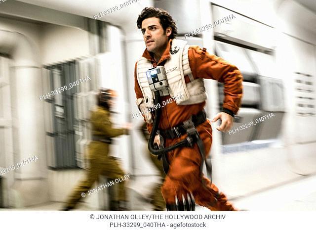 """""""Star Wars: The Last Jedi"""" (2017) Poe Dameron (Oscar Isaac) Lucasfilm Ltd"