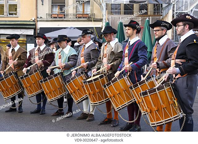 Fête de l'Escalade. Traditional festival Escalade ceremony is held every year on December 11th and 12th, Old town, historic center. Geneva