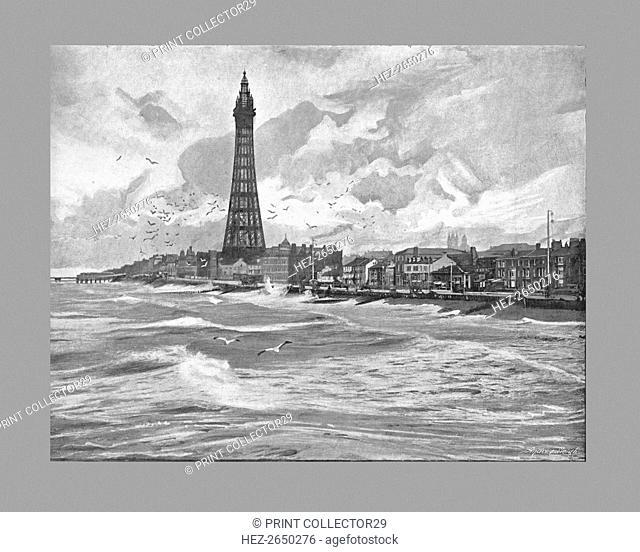 Blackpool with it's Eiffel Tower, c1900. Artist: Paulton & Son