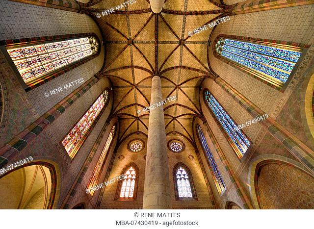 France, Haute Garonne, Toulouse, Jacobin convent, church, the ceiling of the nave