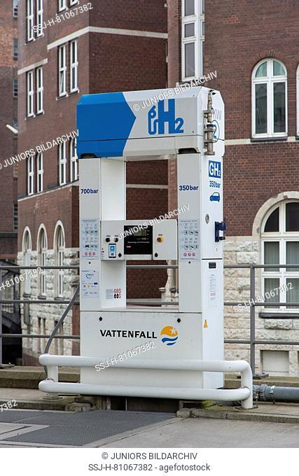Hydrogen filling station. Hamburg, Germany