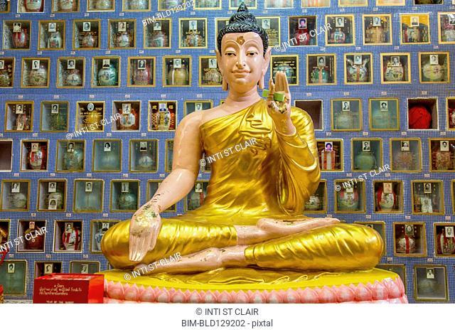 Buddha statue in Wat Chayamangkalaram temple, George Town, Penang, Malaysia