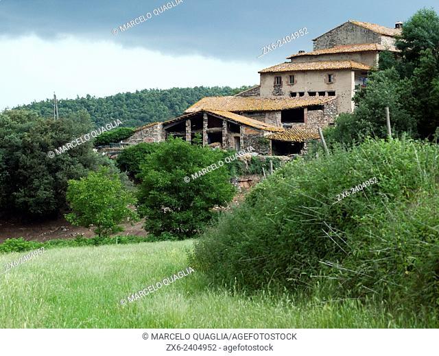 Typical farmhouse of Catalonia (Masia), that belonged to Joan Sala i Serrallonga, a popular bandit during 1625 until 1630