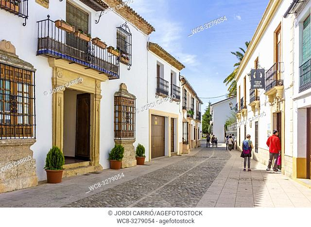 Ronda, Andalucia, Spain: View of one of the beautiful streets of the historic center of the city of Roda
