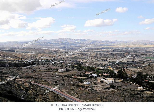View from Mojacar, Sierra Cabrera landscape, Province of Almeria, Andalusia, Spain