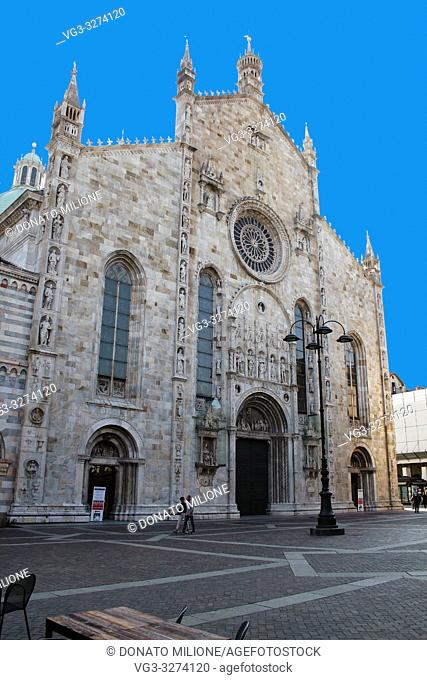 Como, Lombardy, Italy. The Cathedral of Santa Maria Assunta. Late Gothic, Renaissance architectural style