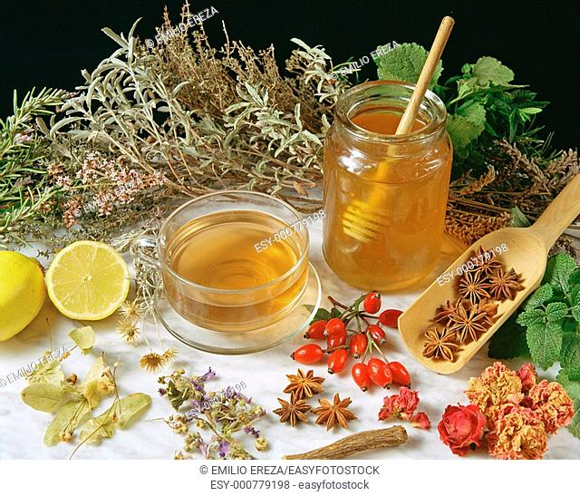 Infusion and honey