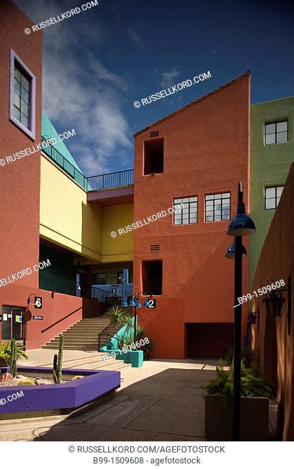 Inner Courtyard La Placita Village Downtown Tucson Arizona USA