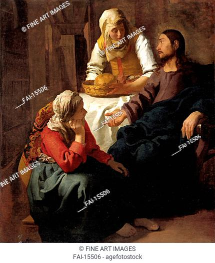 Christ in the House of Martha and Mary. Vermeer, Jan (Johannes) (1632-1675). Oil on canvas. Baroque. before 1654–1655. National Gallery of Scotland, Edinburgh