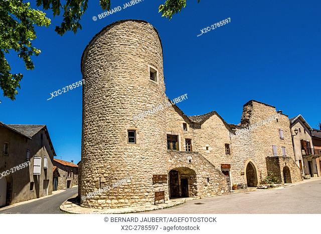 La Cavalerie village. Unesco World Heritage, Grands Causses Natural Regional Park village. Aveyron. France. Europe