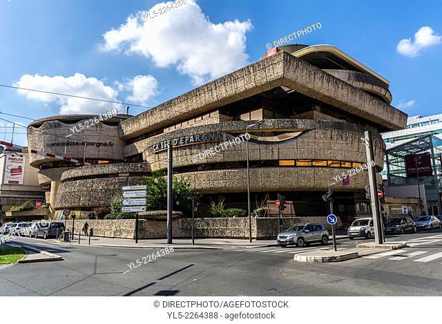 Bordeaux, France, Street Scenes, French Bank Corporation Building, Caisse d'Epargne, Quartier Mériadeck , Credit Architect : Edmond Lay