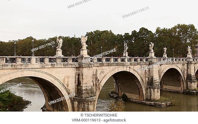 Sant Angelo bridge, Rome, Italy, Europe