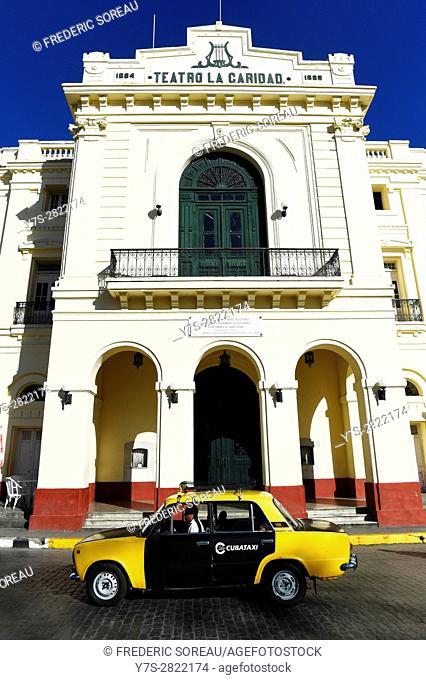 Teatro La Caridad (Charity's Theater) on Parque Vidal,Santa Clara, Cuba
