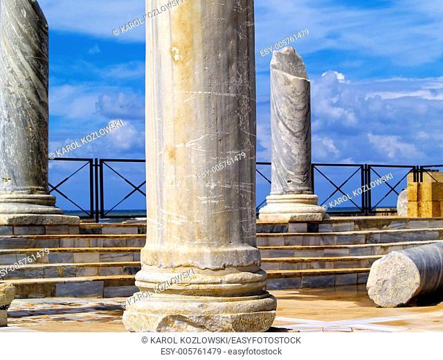 Caesarea - the ruins of ancient roman city in Israel