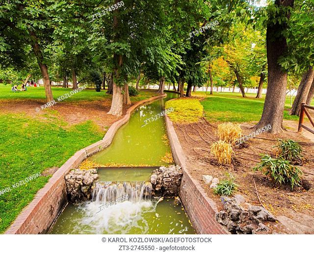 Spain, Madrid, View of the Retiro Park