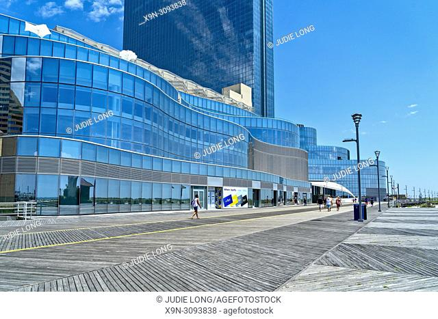 Atlantic City, NJ, USA. View of the Ocean Resort and Casino from the Boardwalk, on a Bright, Sunny, Summer Day