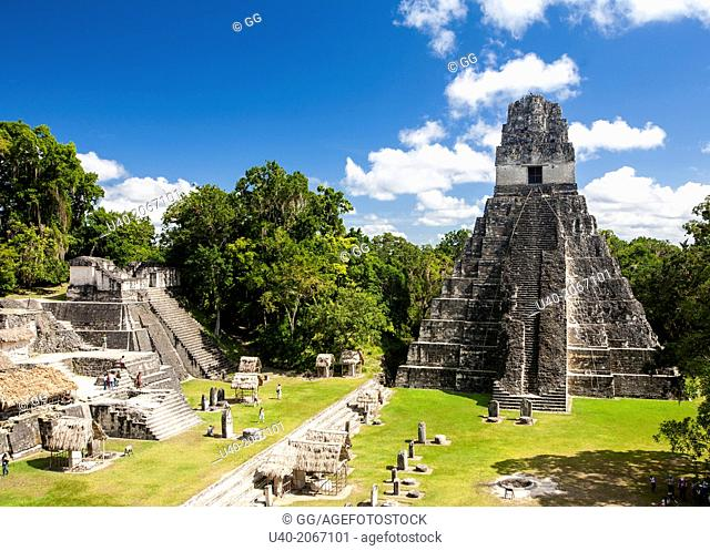 Guatemala, Tikal, Temple of the Jaguar